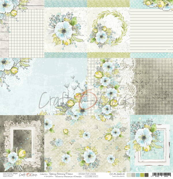 Craft O Clock, Scrapbookvel, Spring Morning Dreams, Decorative Cards