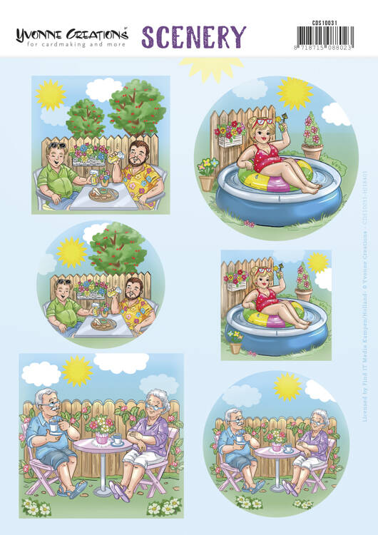 Yvonne Creations, Scenery, Push Out, Holidays in the Garden - CDS10031
