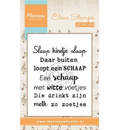 Marianne Design, Clear Stamp, Versjes, Slaap Kindje Slaap - CS0961