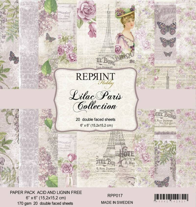 Reprint, Paperpad, Lilac Paris Collection - RPP017