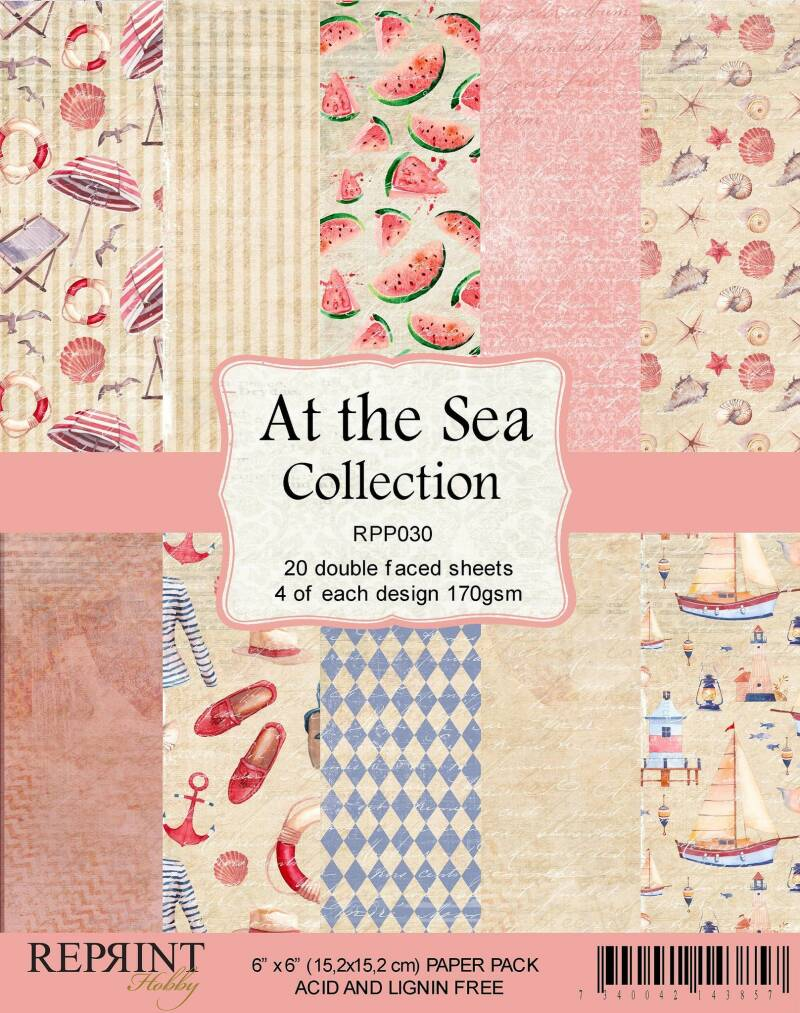 Reprint, Paperpad, At the Sea Collection - RPP030