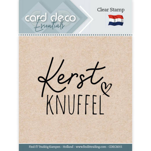 Card Deco, Clear Stamp , Kerst Knuffel - CDECS015