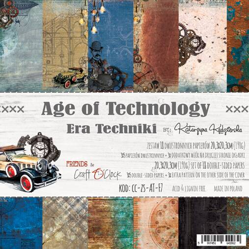Craft O Clock, Paperpad, Age Of Technology  , 20,3 x 20,3 cm