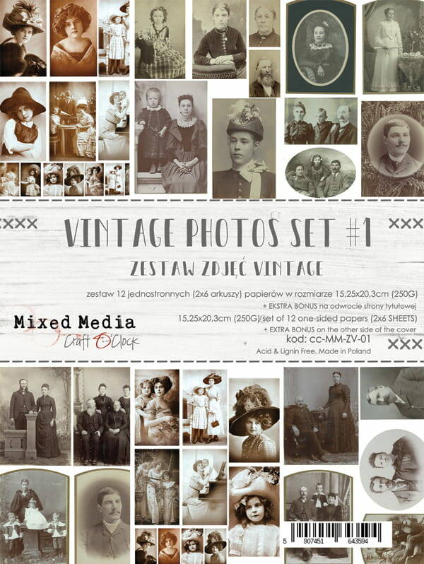 Craft O Clock, Vintage Photo Set 01