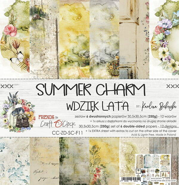 Craft O Clock, Paperpad, Summer Charm , 30,5 x 30,5 cm