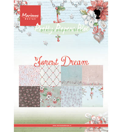 Marianne Design, Papierblok, Forest Dream - PK9158