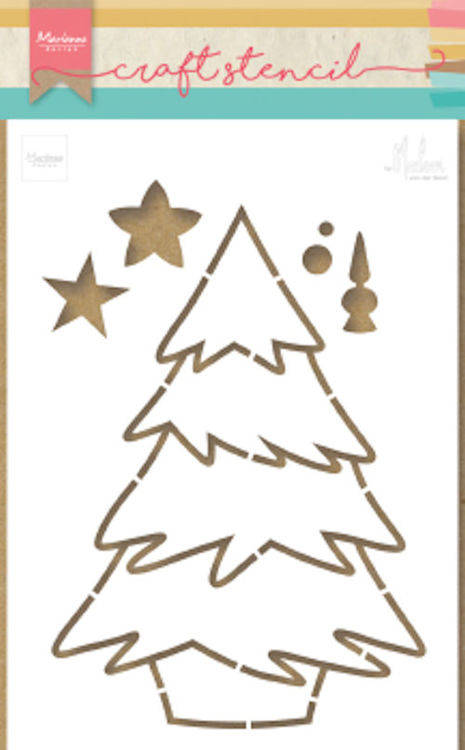 Marianne Design, Craft Stencil, Kerstboom by Marleen - PS8046
