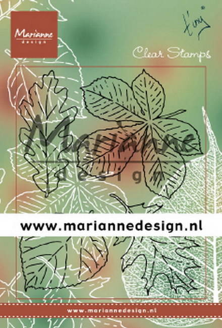 Marianne Design, Clear Stamp, Tiny's Bladerenset - TC0876