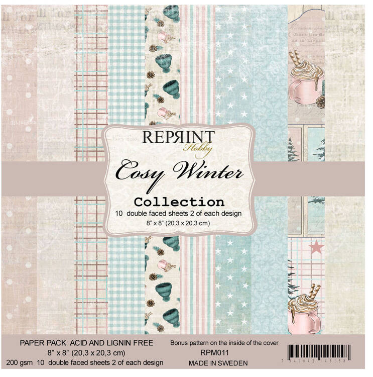 Reprint, Paperpad, Cosy Winter, 8x8 inch - RPM011