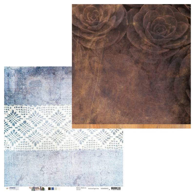 Studiolight, Scrapbookpapier, Denim Saturdays - SCRAPDEN03