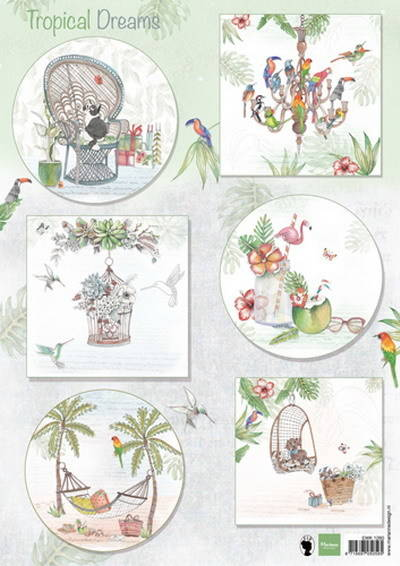 Marianne Design, Knipvel, Els Wezenbeek , Tropical Dreams - EWK1260