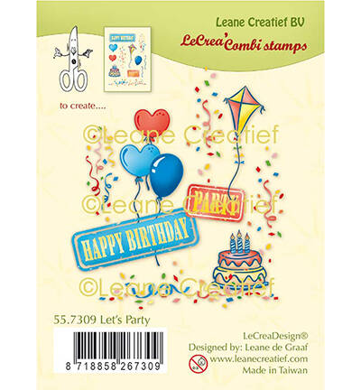 Leane Creatief, Clear Stamp, Feest - 55.7309