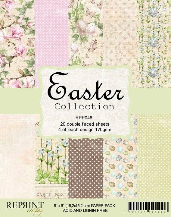 Reprint, Paperpad, Easter Collection, 6x6 inch - RPP048