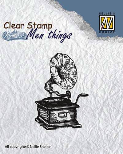 Nellie Snellen, Clear Stamp, Men Things, Gramophone - CSMT002