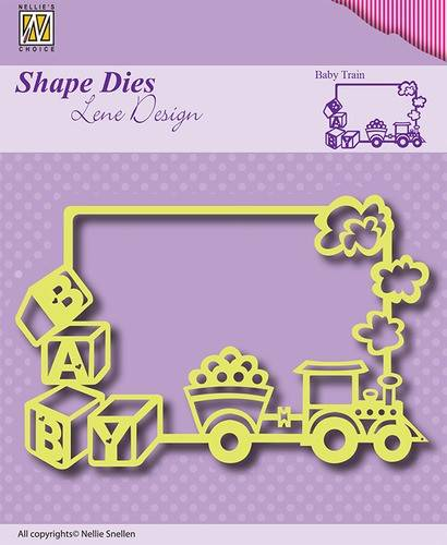 Nellie Snellen, Shape Dies, Lene Design, Frame Baby-Train - SDL011