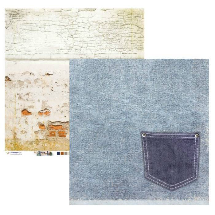 Studiolight, Scrapbookpapier, Denim Saturdays - SCRAPDEN04