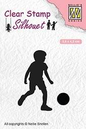 Nellie Snellen, Silhouette Clear Stamp, Football Player - SIL049