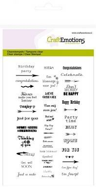 CraftEmotions, Clear Stamp, Teksten , Small (NL/ENG) - 130501/1146