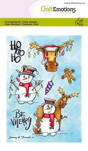 CraftEmotions, Clear Stamp, Snowy & Friends 1 - 130501/1651
