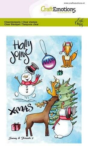 CraftEmotions, Clear Stamp, Snowy & Friends 2 - 130501/1652