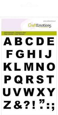 CraftEmotions, Clear Stamp, Alphabet Basic - 130501/1136