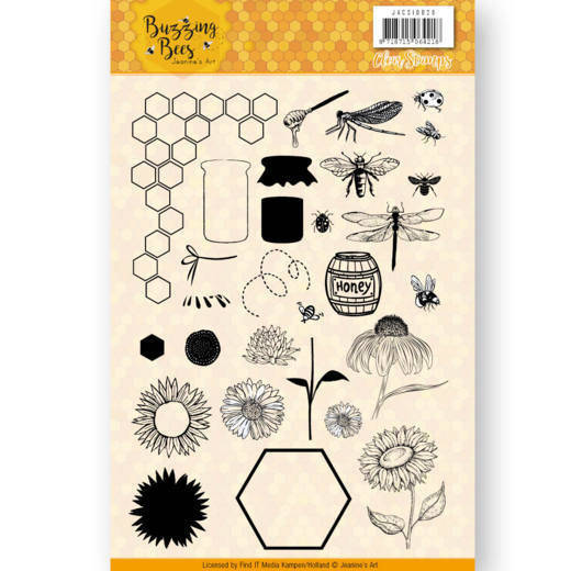 Jeanine's Art, Clear Stamp, Buzzing Bees - JACS10028