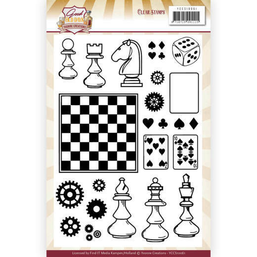 Yvonne Creations, Clear Stamp, Good old day's - YCCS10061