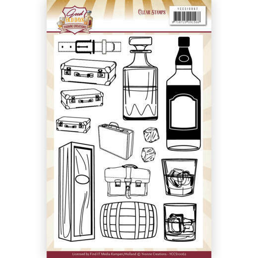 Yvonne Creations, Clear Stamp, Good old day's , Whiskey -  YCCS10062