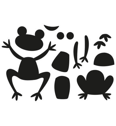 Marianne Design, Craftable , Frogs by Marleen - CR1514
