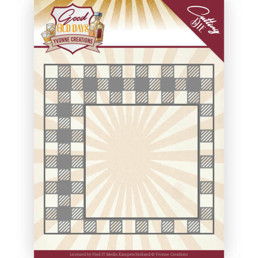 Yvonne Creations, Snijmal, Good old day's, Checkered Frame -  YCD10220