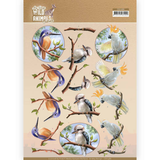 Amy Design, Knipvel , Wild Animals Outback, Parrot- CD11486