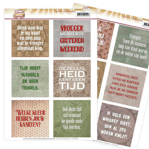 Yvonne Creations, Tekst Designs , Good old day's (NL) -  YCTD1001
