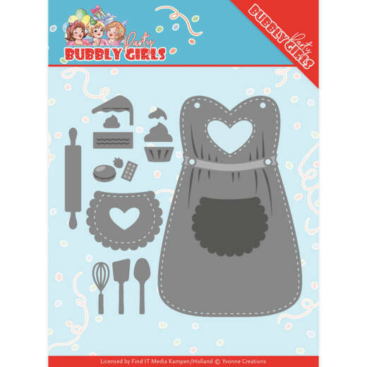 Yvonne Creations, Snijmal, Bubbly Girls Party , Apron - YCD10201