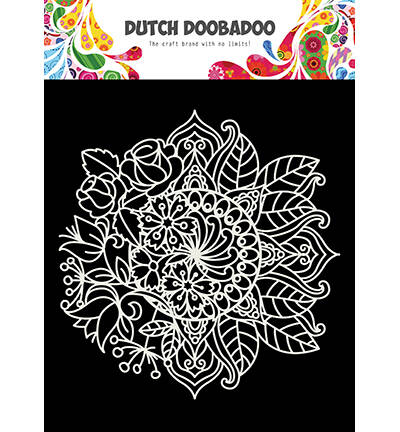 Dutch Doobadoo, Mask Art, Mandala met bloem - 470.715.624