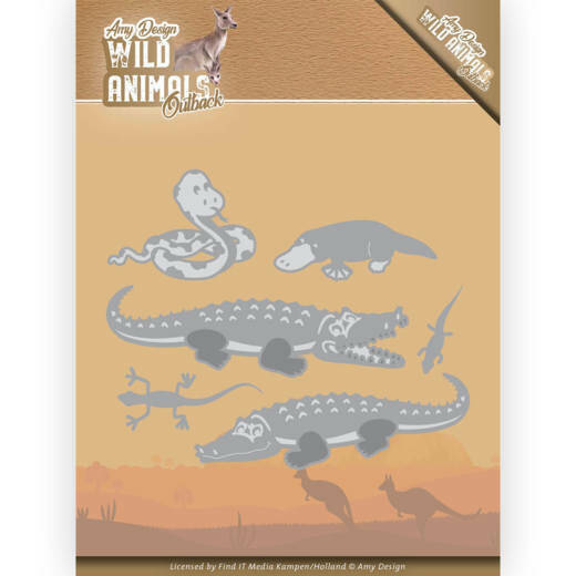 Amy Design, Snijmal, Wild Animals Outback , Crocodile - ADD10206