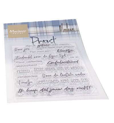 Marianne Design, Clear Stamp , Proost by Marleen - CS1056
