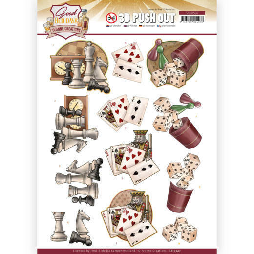 Yvonne Creations, 3D Push Out, Good old day's, Games - SB10507