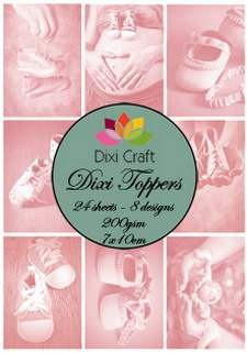 Dixi Craft, Toppers, Baby, Roze - ET0115
