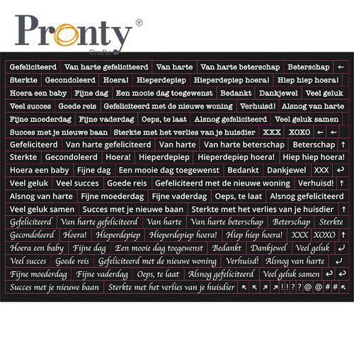 Pronty, Stickers, Quote Black, A5 formaat - 491.100.011