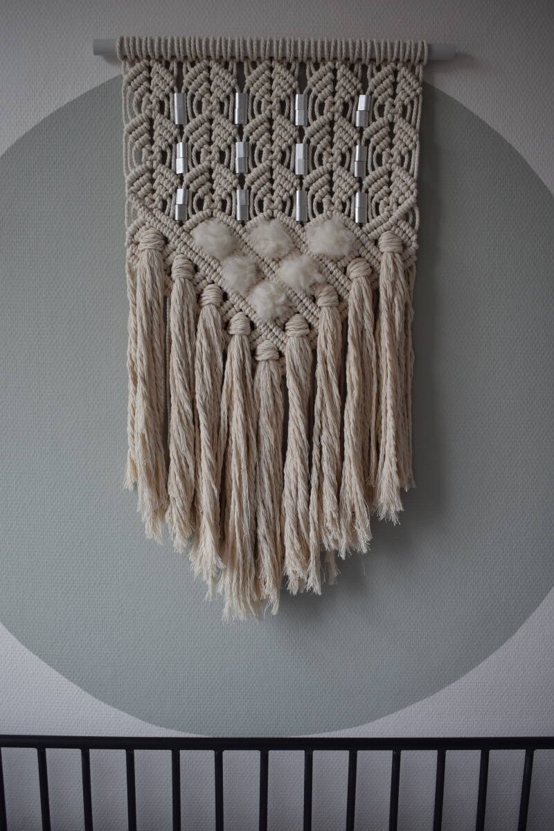 Macramé Wandkleed Ice Mirror