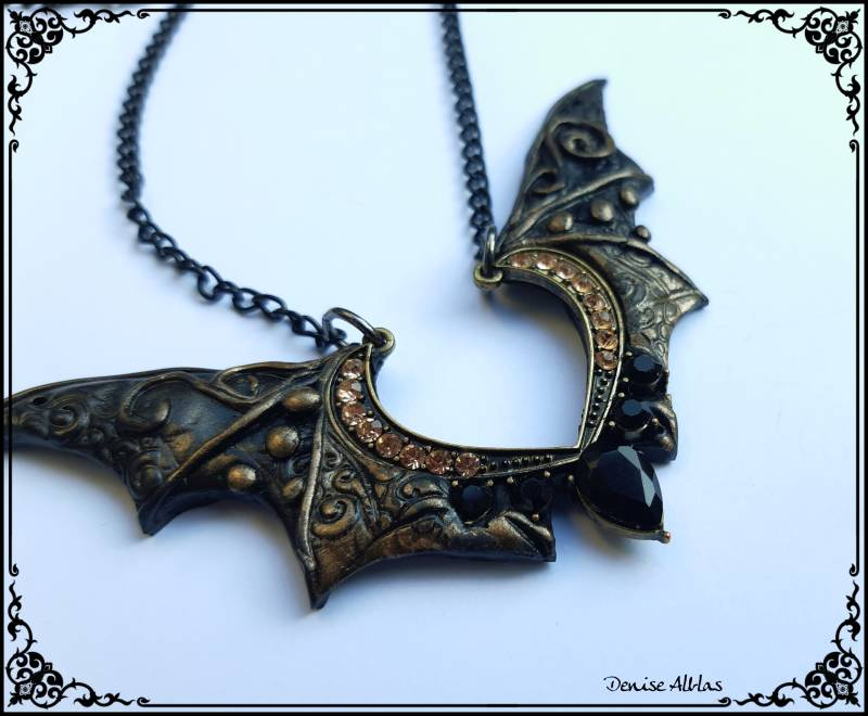 Gold Batwings Necklace