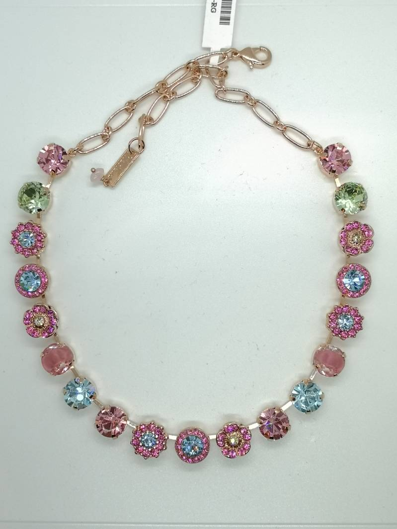 Nature / Spring Flowers Necklace N-3084-2141-RG