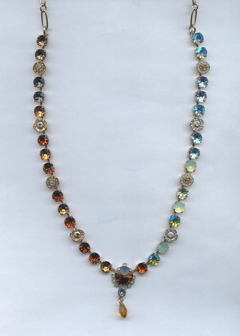 Africa / Forget Me Not Necklace N-3219-1329-RG