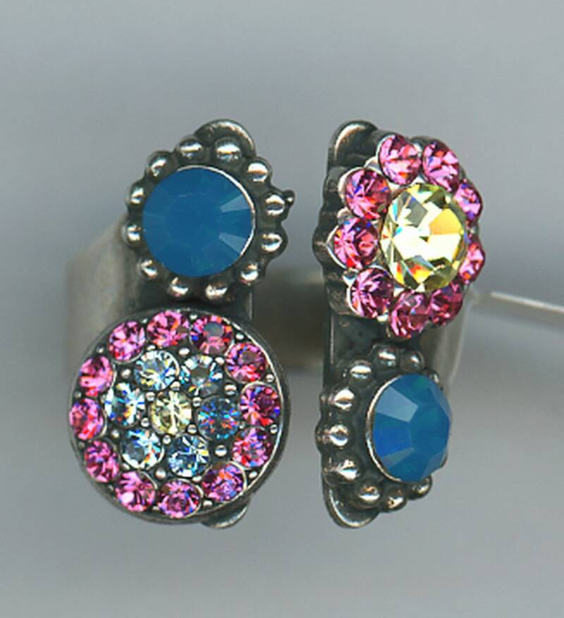 Nature / Spring Flowers Ring R-7416/1-2141-RG