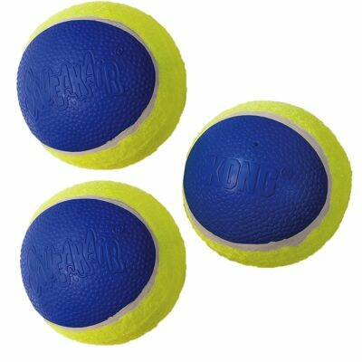 Kong Ultra Squeak Tennisball pro 3er-Set