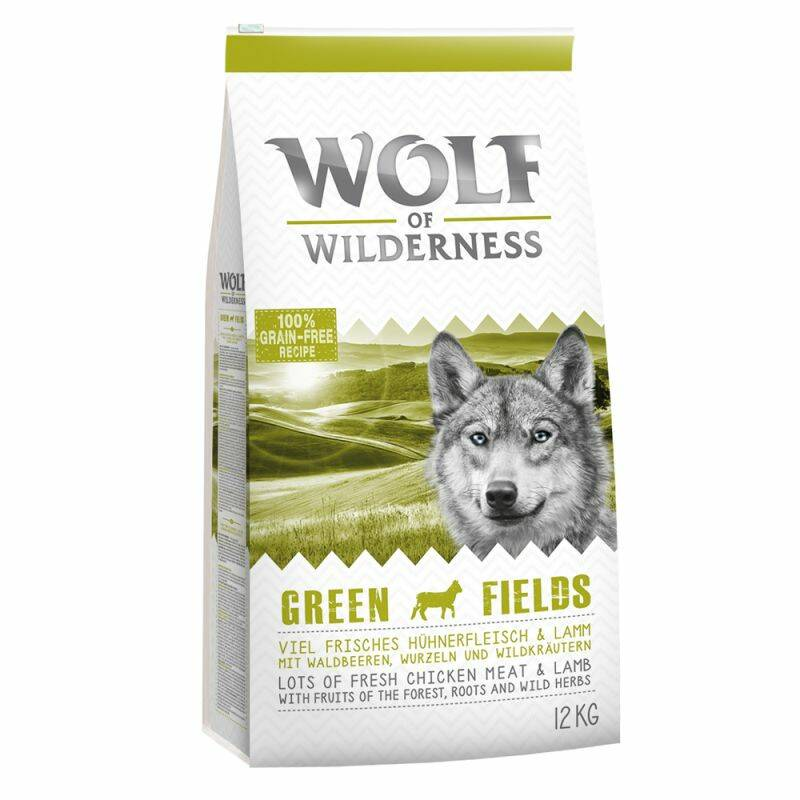 "Wolf of Wilderness Adult ""Green Fields"" Lam Tasche 5 kilo"