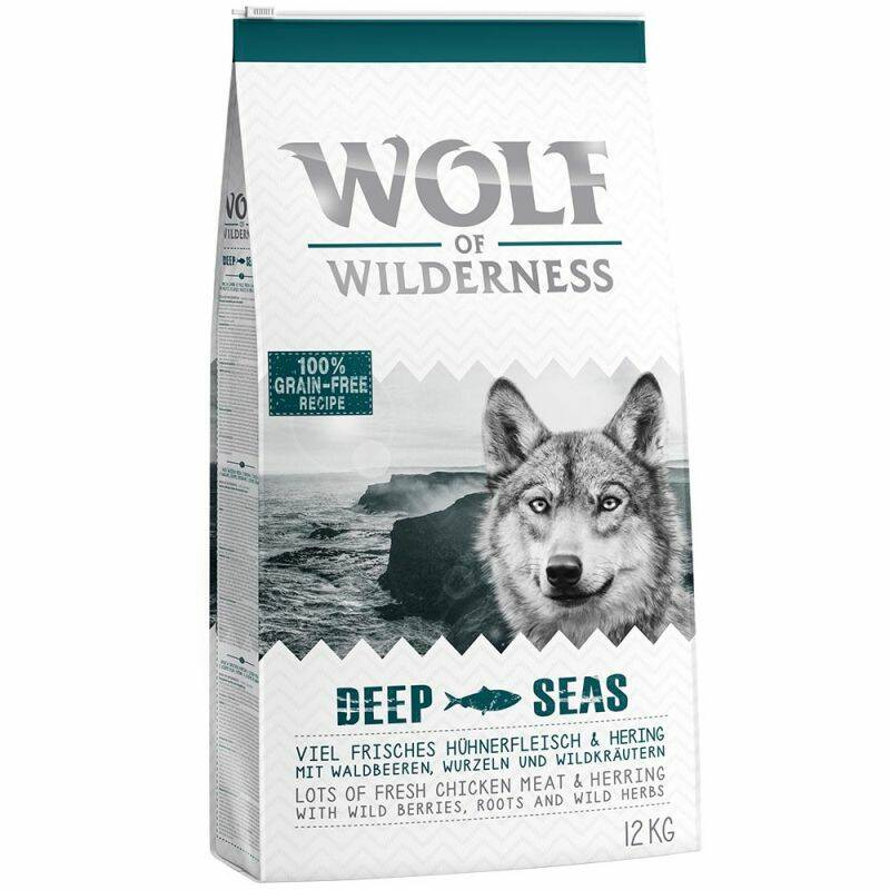 "Wolf of Wilderness Adult ""Deep Seas"" Haring zak 5 kilo(5x1)"