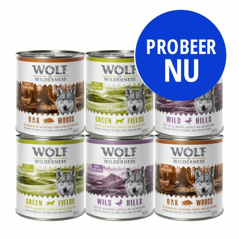 Wolf of Wilderness Gemischtes Testpaket 6x400gr