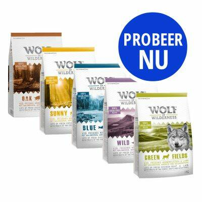 Wolf of Wilderness probeerpakket (5x1kilo)