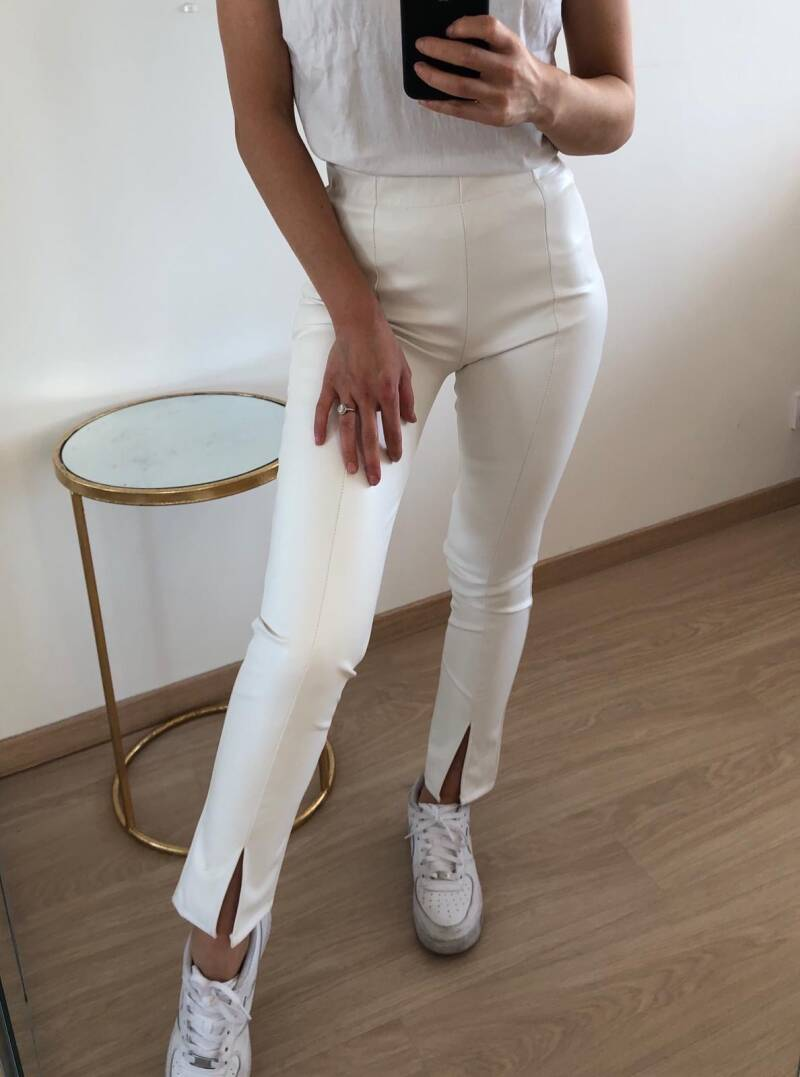 leatherlook split pants